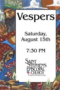 Reserve Your Seat for Saturday Evening's Vespers Service