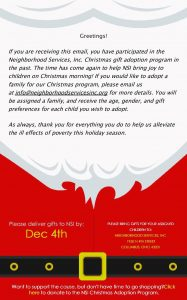 Neighborhood Services, Inc. Christmas Gift Adoption Program