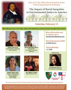 Absalom Jones Symposium to explore racial inequities, environmental justice