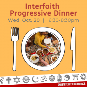 Read more about the article OSU Interfaith Dinner on Wednesday, October 20 from 6:30 – 8:30