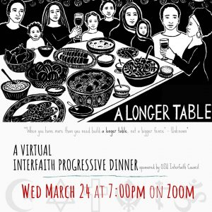 Interfaith Council to Host Spring Semester Progressive Dinner